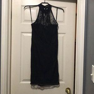High neckline dress